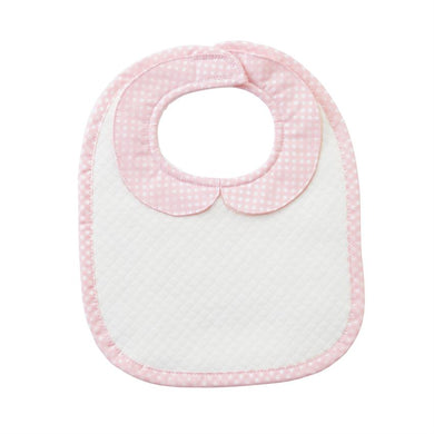 Pink Quilted Monogram Bib, Baby, Laura of Pembroke