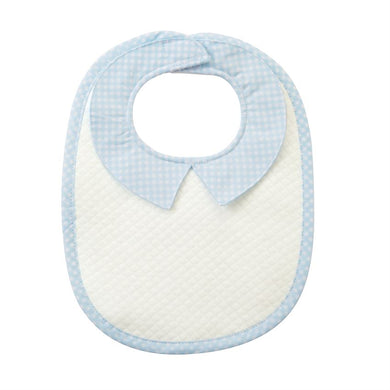 Blue Quilted Monogram Bib, Baby, Laura of Pembroke