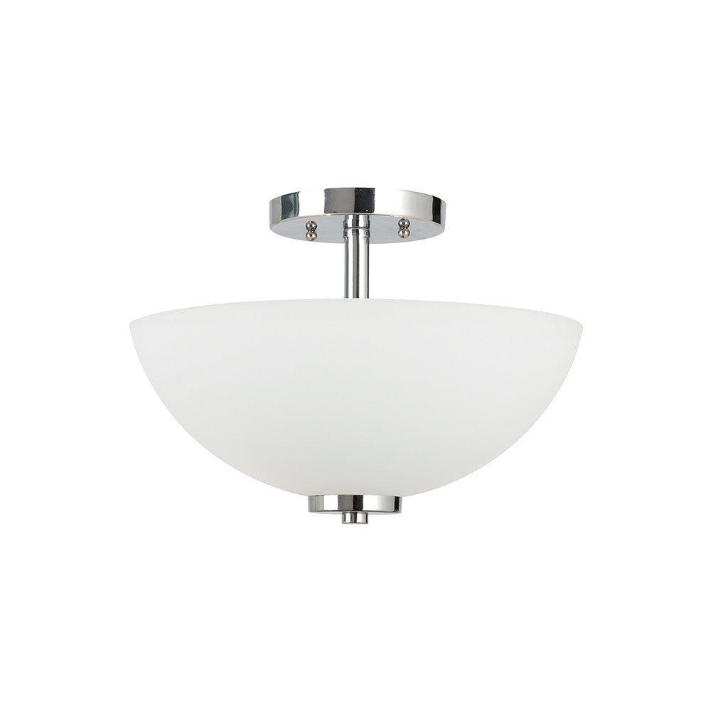 Sleek Chrome 2 Light Semi-Flush Convertible Pendant, Lighting, Laura of Pembroke