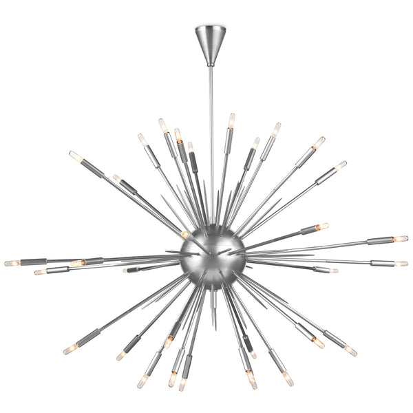 Polished Nickel Large Nebula Chandelier
