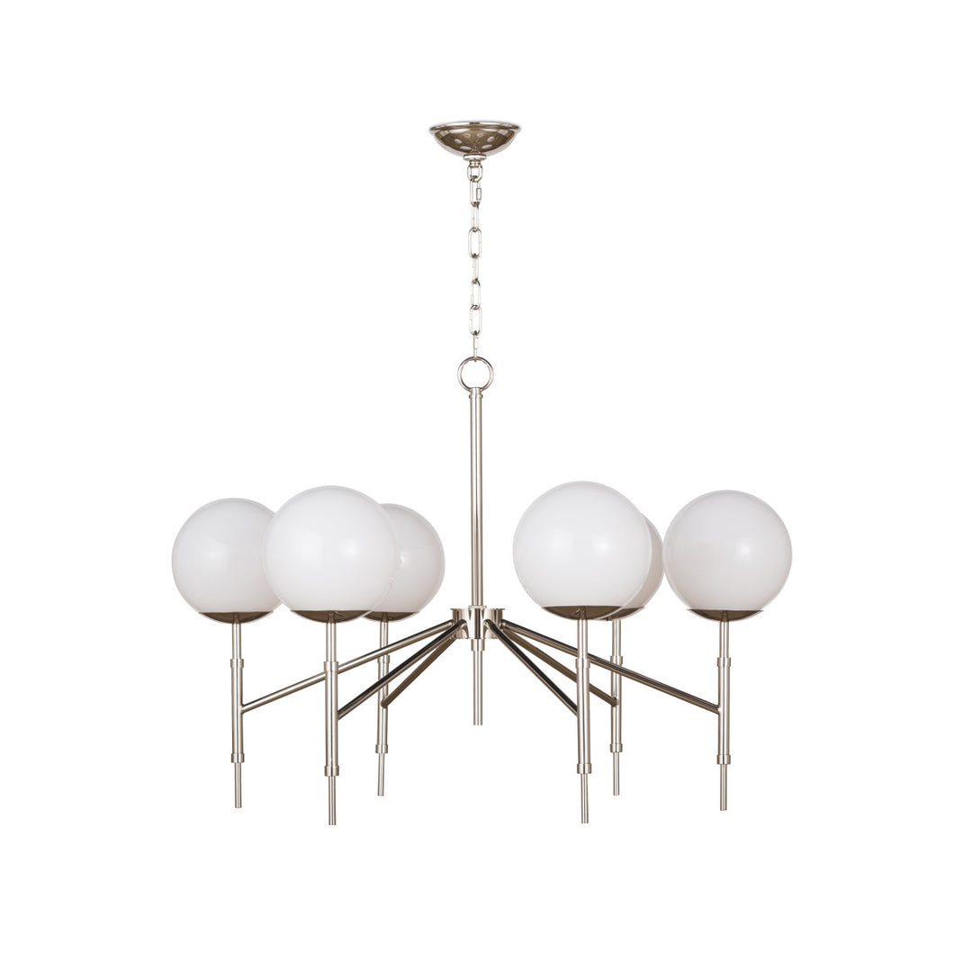 Polished Nickel Bodie Chandelier