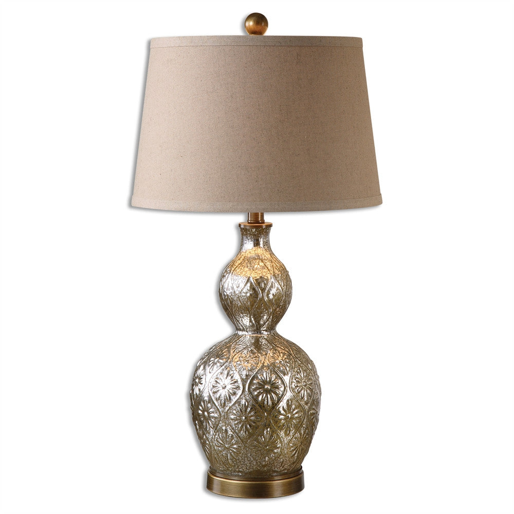 Embossed Mercury Glass Lamp