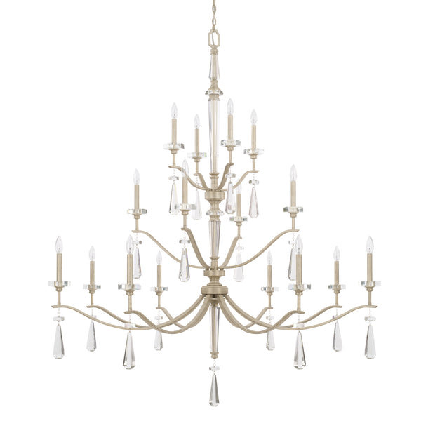 Serena Winter White Crystal 16 Light Chandelier
