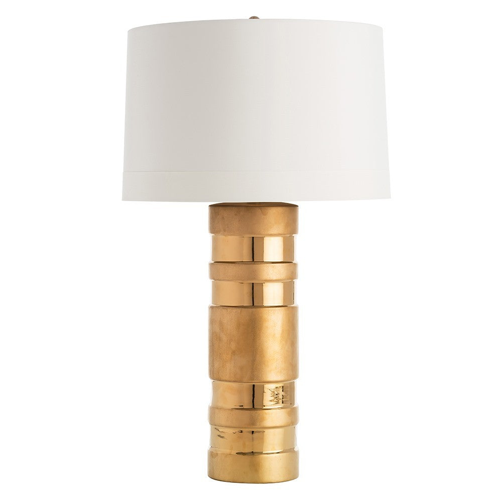 Matte and Gloss Gold Lamp, Home Accessories, Laura of Pembroke