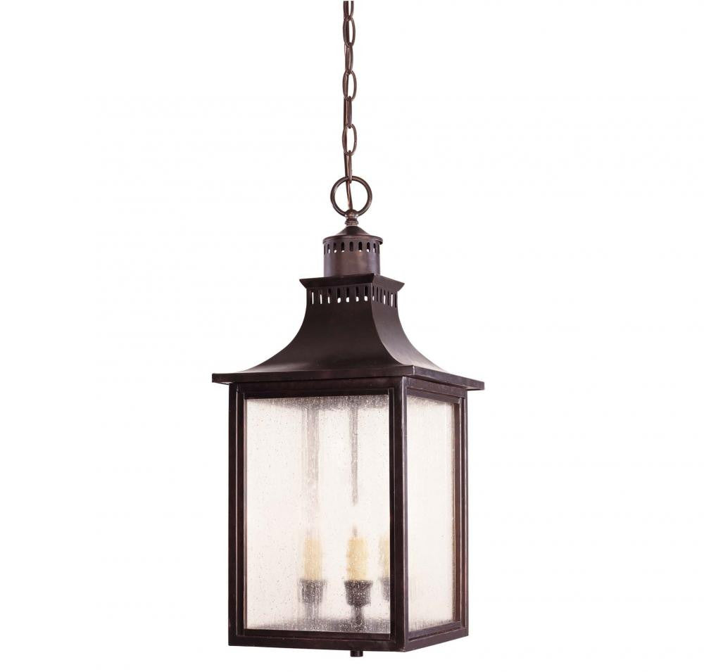 English Bronze Traditional Outdoor Hanging Lantern, Lighting, Laura of Pembroke