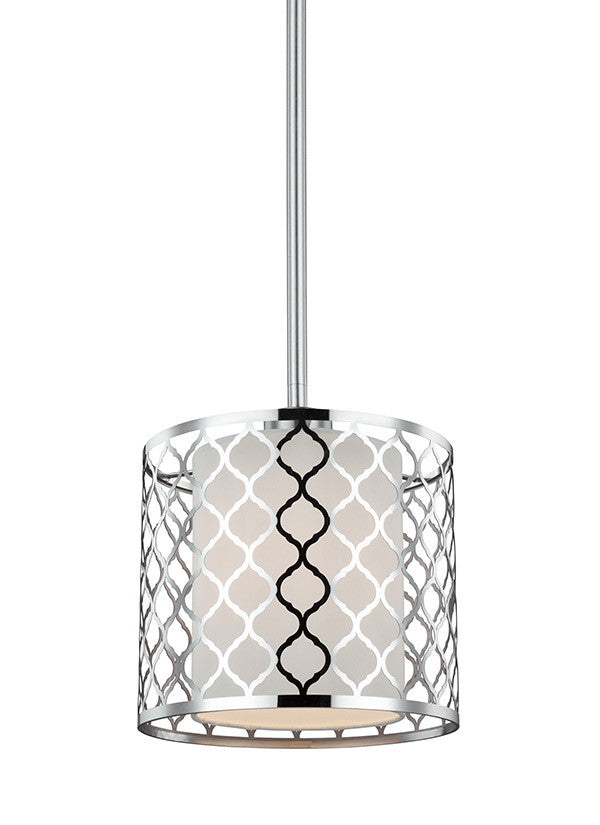 Perforated Metal 1 Light Mini Pendant, Lighting, Laura of Pembroke