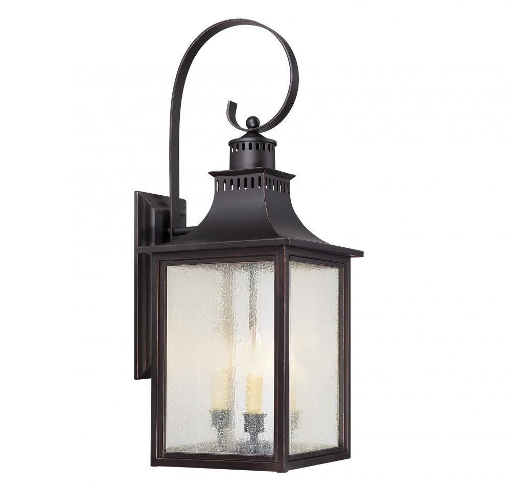 English Bronze Traditional Outdoor 3 Light Wall Sconce, Lighting, Laura of Pembroke