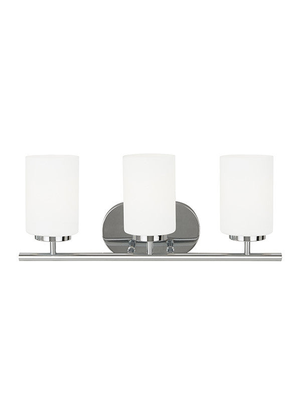 Sleek Chrome 3 Light Wall/Bath Light, Lighting, Laura of Pembroke