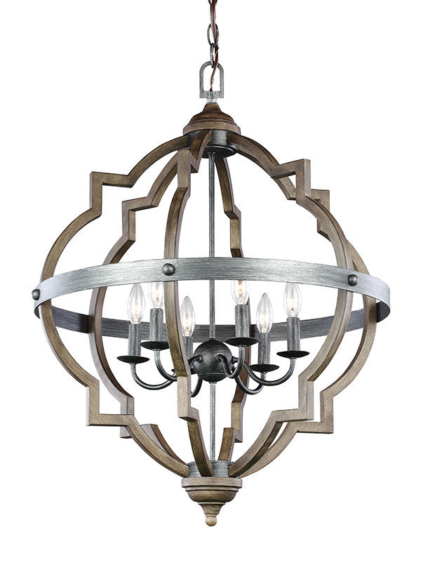 Quatrefoil 6 Light Chandelier, Lighting, Laura of Pembroke