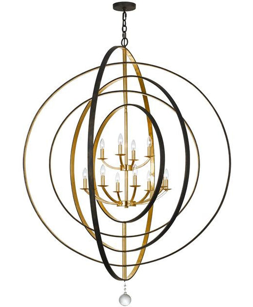 Bronze & Gold Sphere 12 Light Chandelier, Lighting, Laura of Pembroke