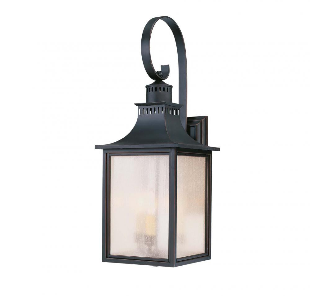 Slate Traditional Outdoor 3 Light Wall Sconce, Lighting, Laura of Pembroke