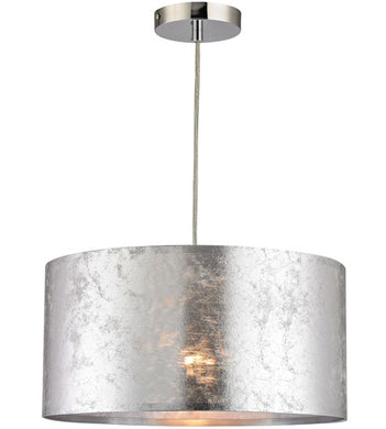 1 Light 16 inch Silver Pendant Ceiling Light