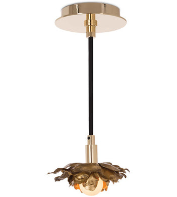 1 Light 6 inch Gold Pendant Ceiling Light