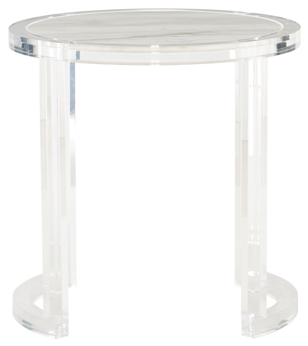 Jazz White Marble Top End Table