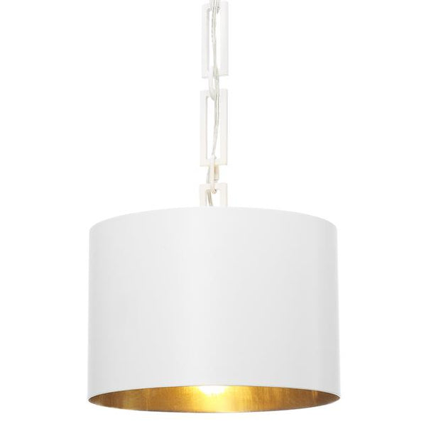 1 Light Matte White Mini Chandelier