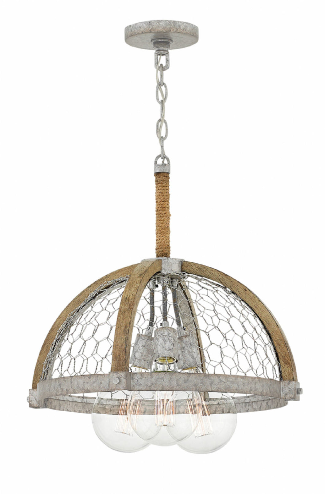 Hanging Wire 3 Light Fixture