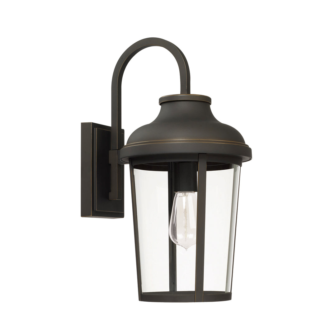 Dunbar Oil Rubbed Bronze 1 Light Outdoor Wall Lantern, Lighting, Laura of Pembroke