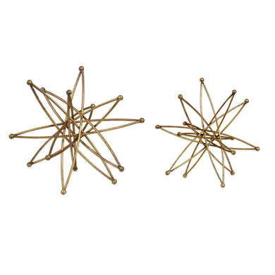 Metallic Gold Leaf Stars, Home Accessories, Laura of Pembroke