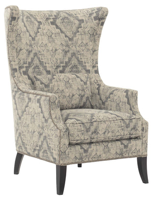 Wing Chair with Nailheads, Home Furnishings, Laura of Pembroke