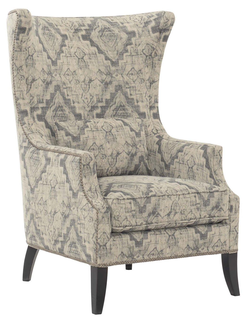 Wing Chair with Nailheads