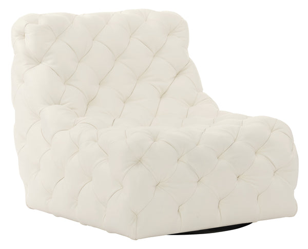 Low Tufted Swivel Chair