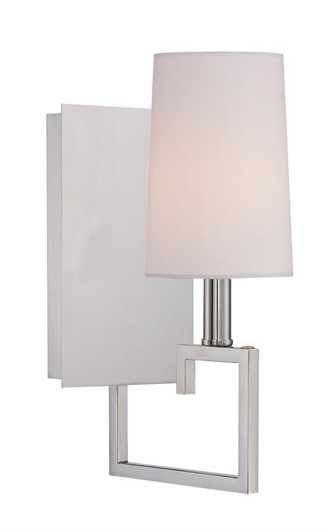 1 Light Nickel Sconce Lighting Laura of Pembroke - Laura of Pembroke Canton Ohio Boutique