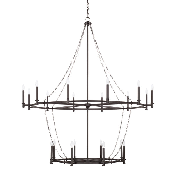 Lancaster Black Iron 20 Light Chandelier