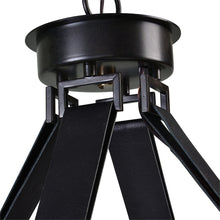12 Light Leather Strap Chandelier