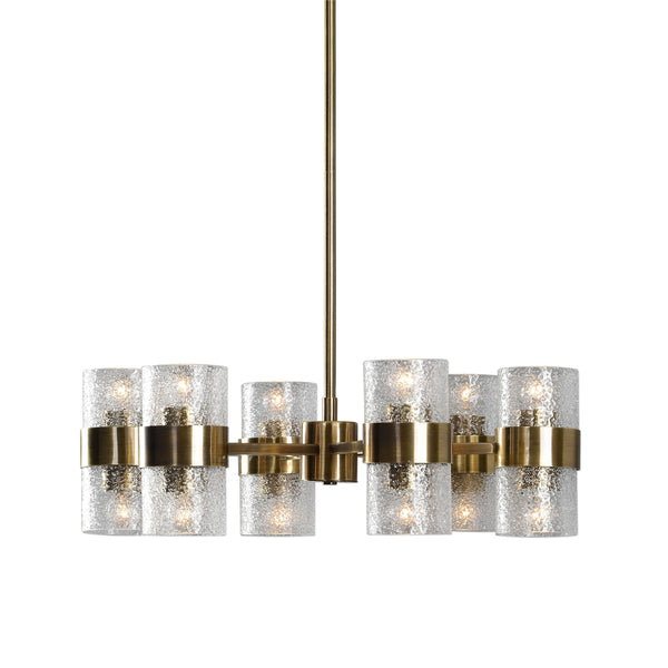Deco Antique Brass Chandelier