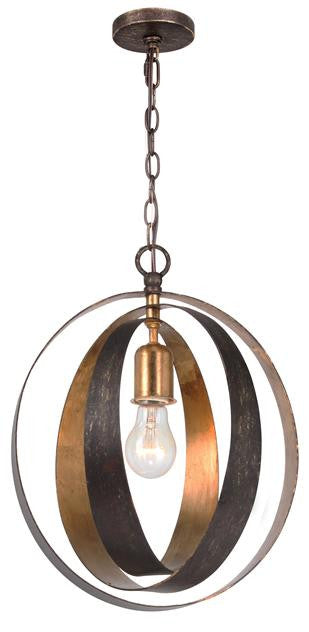 Bronze & Gold Sphere 1 Light Chandelier, Lighting, Laura of Pembroke