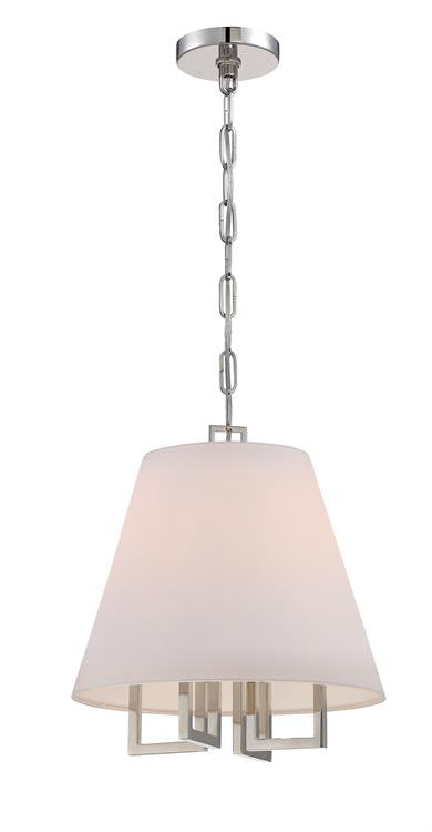 4 Light Nickel Pendant, Lighting, Laura of Pembroke