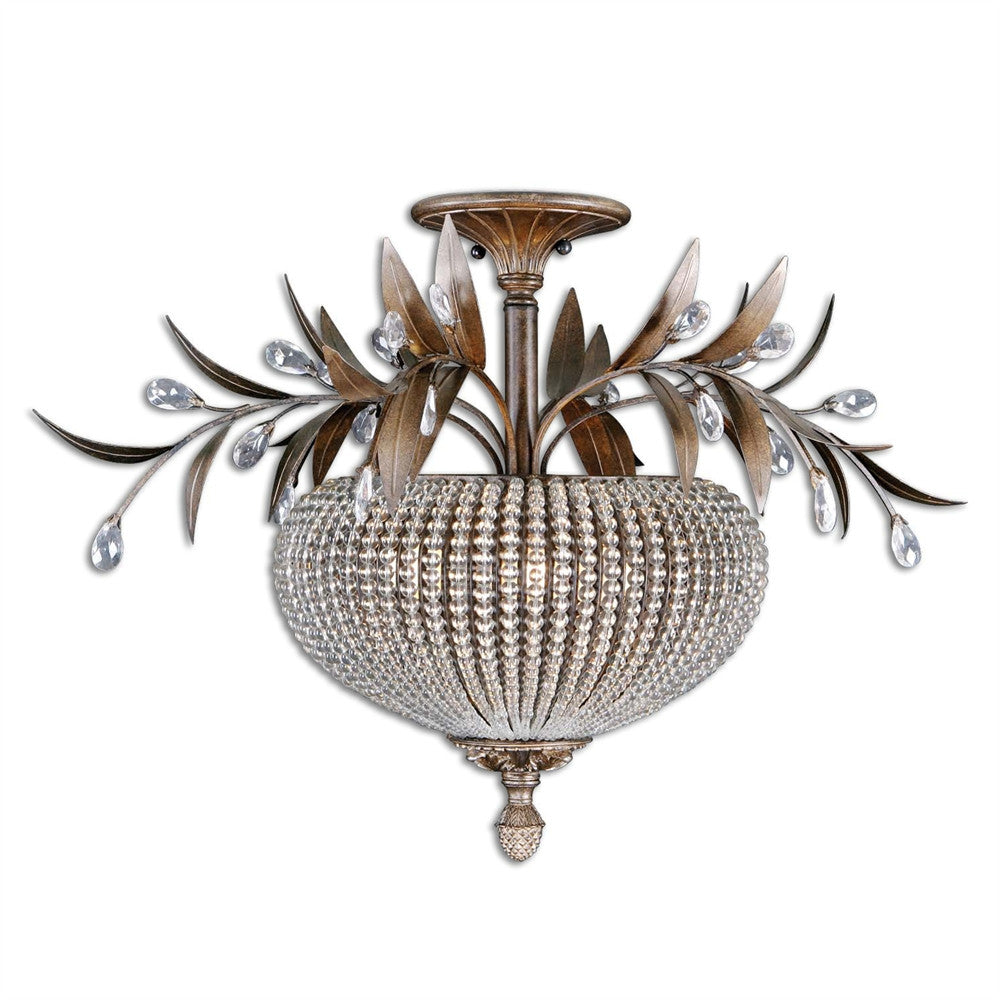 Crystal Bead Semi Flush, Lighting, Laura of Pembroke