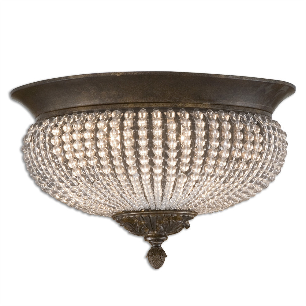 Clear Glass Bead Flush Mount, Lighting, Laura of Pembroke