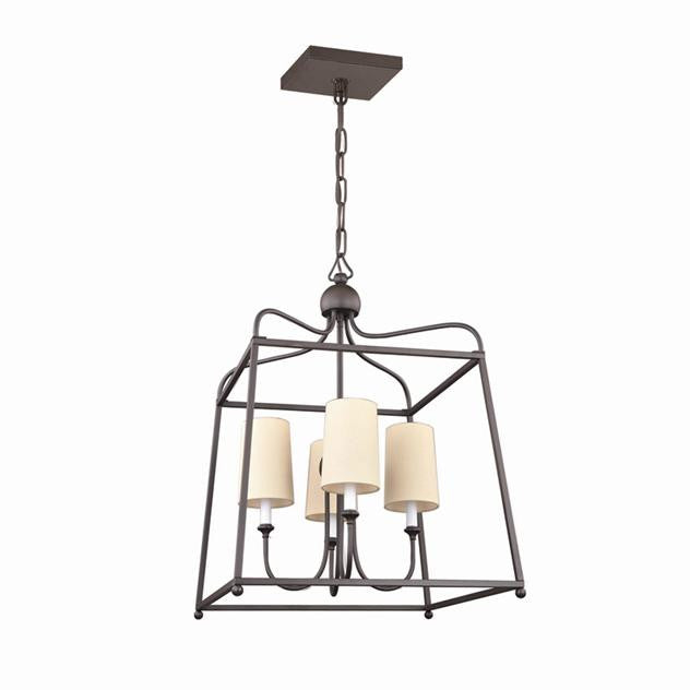 Dark Bronze Lantern Chandelier, Lighting, Laura of Pembroke