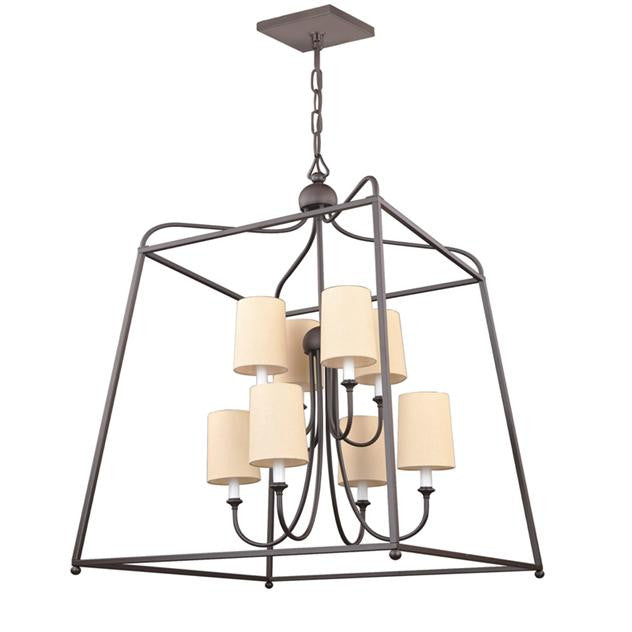 Dark Bronze 8 Light Lantern Chandelier