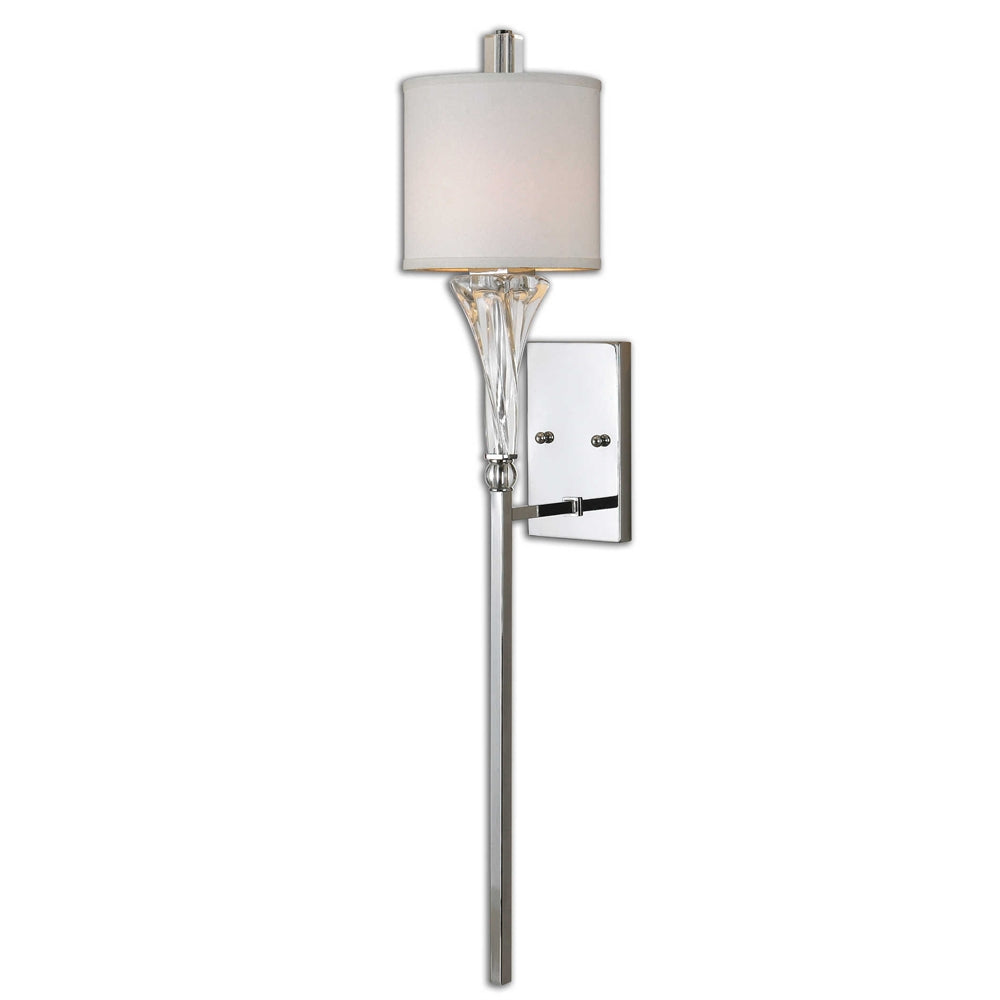 Twisted Glass Column Wall Sconce