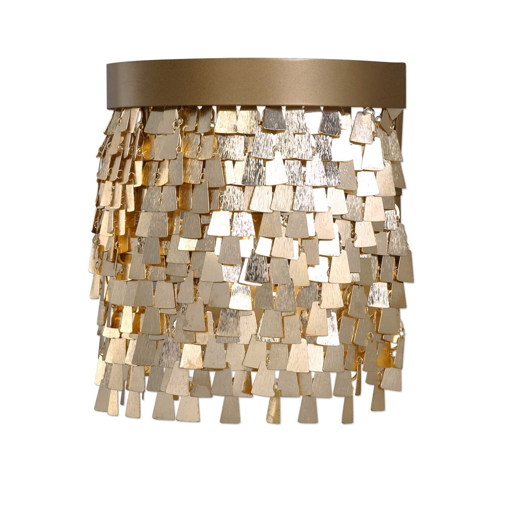 Shimmering Gold Shade Sconce