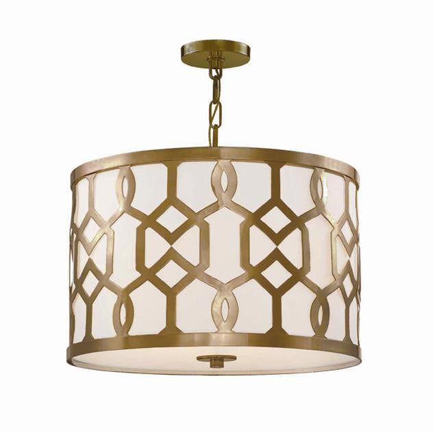 Aged Brass 3 Light Chandelier, Lighting, Laura of Pembroke