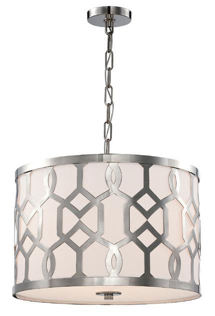 Polished Nickel 3 Light Chandelier