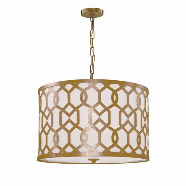 Aged Brass 5 Light Chandelier, Lighting, Laura of Pembroke