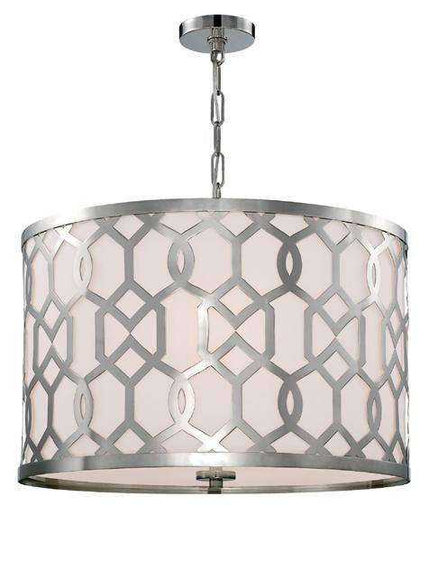 Polished Nickel 5 Light Chandelier, Lighting, Laura of Pembroke