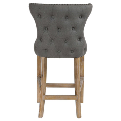 Stonewashed Gray Linen Counter Stool, Home Furnishings, Laura of Pembroke