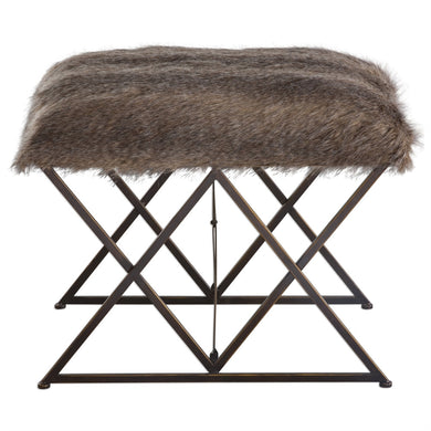 Small Fur Bench, Home Furnishings, Laura of Pembroke