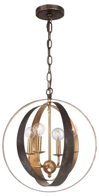 Bronze & Gold Sphere 4 Light Chandelier, Lighting, Laura of Pembroke
