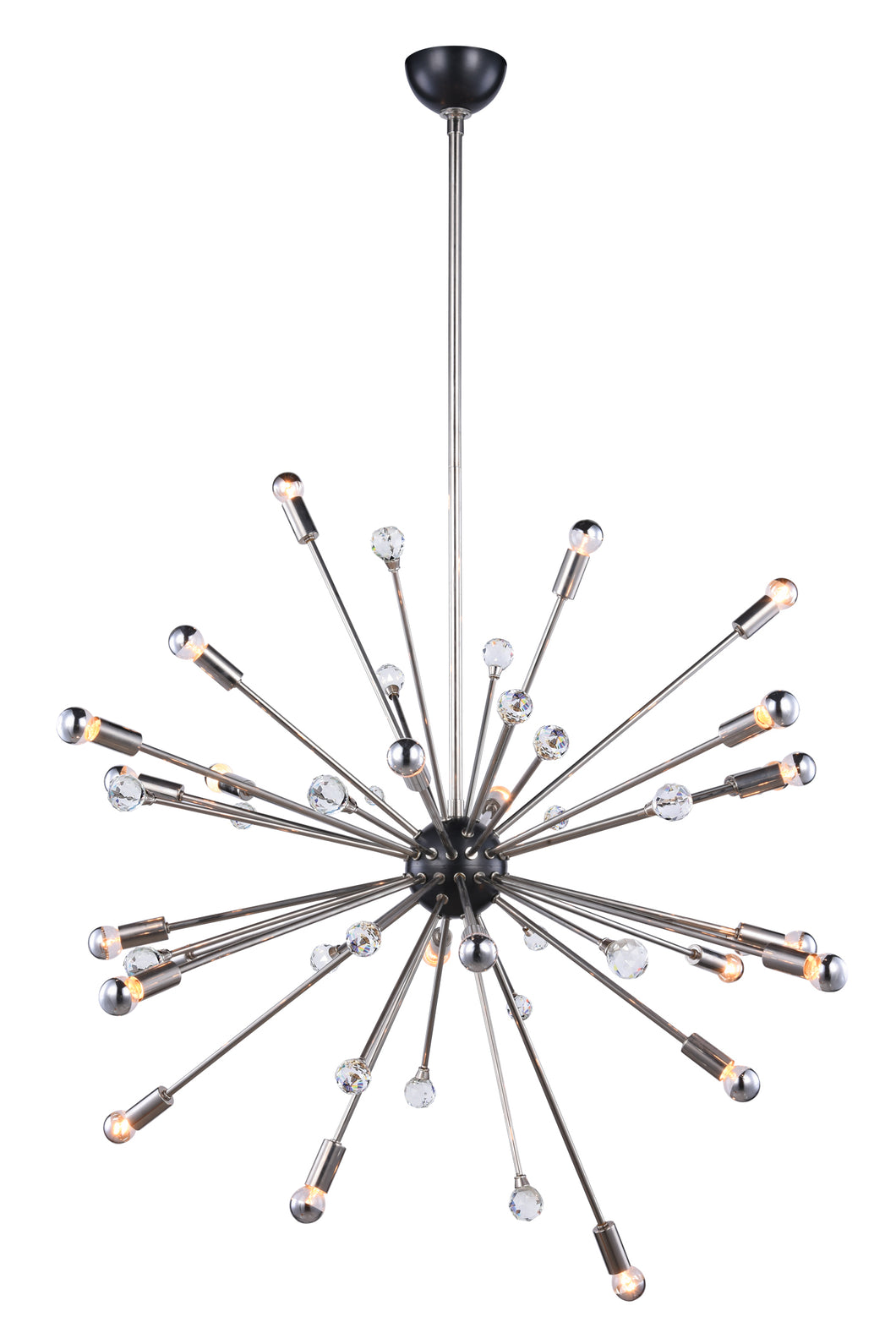 24-Light Polished Nickel Finish Chandelier