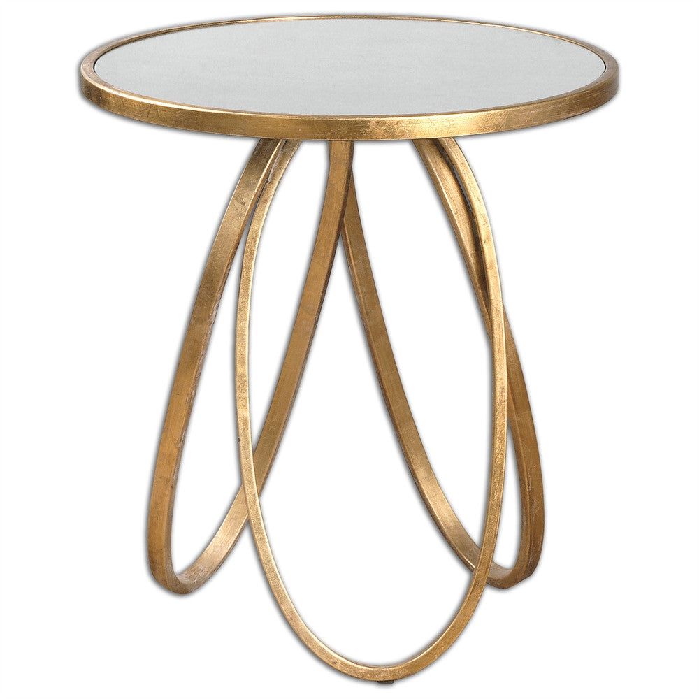 Gold Leaf Accent Table, Home Furnishings, Laura of Pembroke