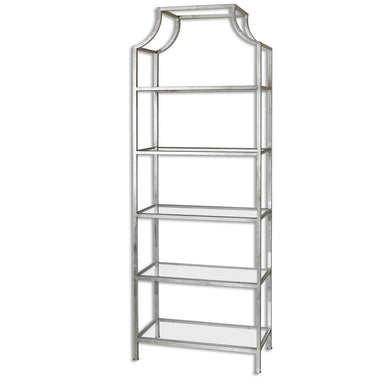 Silver Leafed Iron Etagere