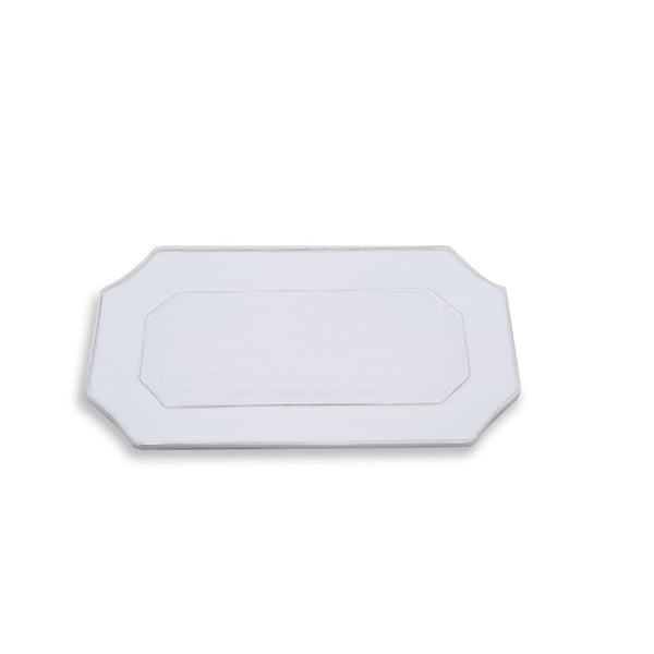 WHITE LONG RECT TRAY - VIDA CHARLESTON