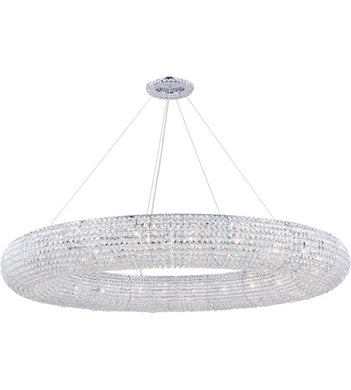 24 Light 59 inch Chrome Chandelier Ceiling Light