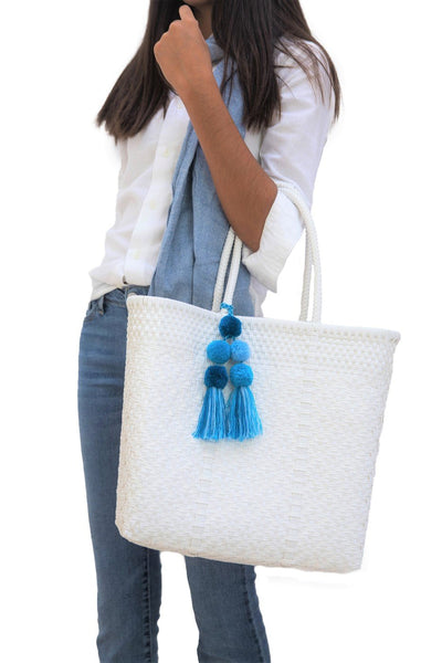 Open Medium Tote - White